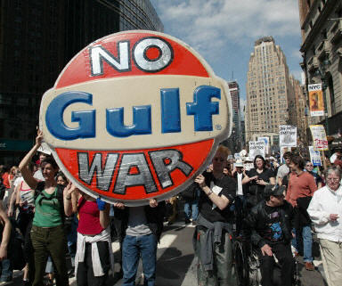 紐約十萬反戰人士示威遊行