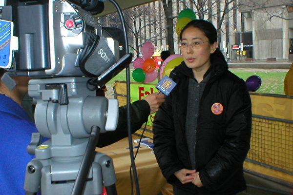 李博女士接受媒体采访(大纪元)