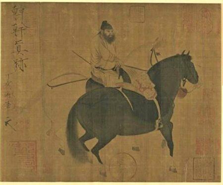 图为唐 韩干《牧马图》。(公有领域)