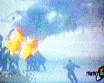 """中國官方製作的""""天安門自焚""""錄像經不起推敲。(法新社圖片)"""