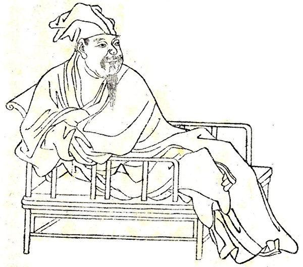 圖為清代《晩笑堂竹莊畫傳》中歐陽修像。(公有領域)