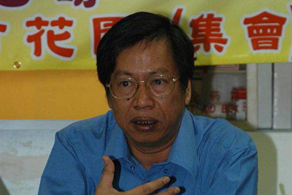 甄燊港指香港社會嚴重分化是政府一手造成的。(攝影:香港大紀元記者)