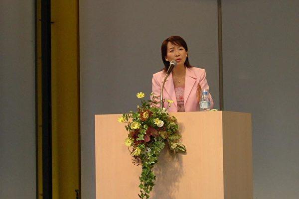 陳美齡為UNICEF募集捐贈活動演講(大紀元攝影)