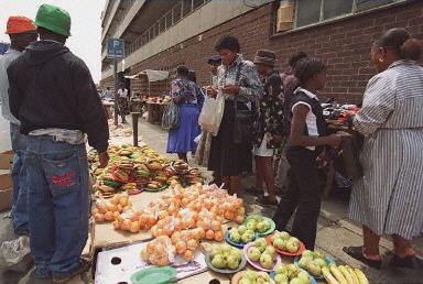 約翰內斯堡街頭市場(法新社圖片)