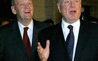 克雷蒂安(左)与馬丁(法新社)