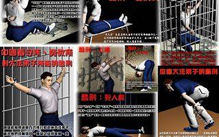图为对中国法轮功学员所采用的部分酷刑手段图示。(明慧网图片)