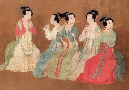 图为五代十国 顾闳中《韩熙载夜宴图》局部。(公有领域)