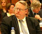 美国驻联合国大使里查德-威尔逊(Richard Williamson)在日内瓦人权大会上。摄影:大纪元记者丽莎。