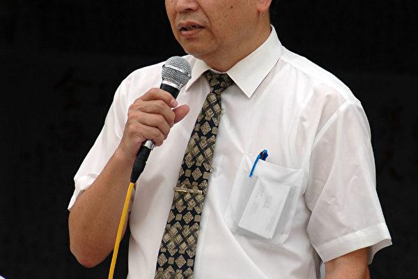 """台湾法轮大法学会理事长张清溪表示,法轮功只是通过修炼""""真善忍"""",对社会、对个人、对国家都是有百益而无一害。(文╱记者简百志;摄影╱记者吴柏桦)"""