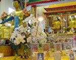 上千颗舍利在多伦多的正觉寺展出(大纪元摄影)