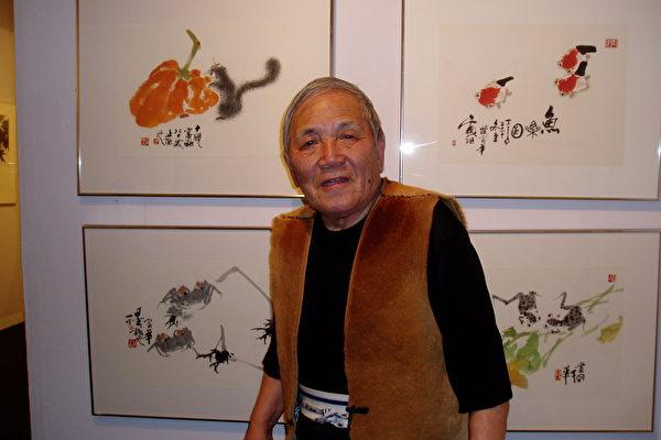 圖:旅英畫家富華先生近照 (大紀元)