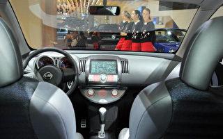 日产(Nissan)汽车Tone车型配备全球卫星定位系统 GPS (Getty Images 2004-9-24)
