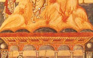 出埃及记的场面,来自英国杜尔的手抄本大型圣经,约9世纪,40.5 x 29公分,现收藏于伦敦大英博物馆