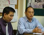 中国自由主义法学家袁红冰教授和翻译宋凯(左)