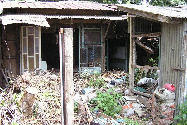 目前虎尾糖廠部份宿舍的荒蕪令人擔憂(大紀元)