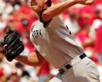 洋基投手 Randy Johnson完封紅雀/Getty Images