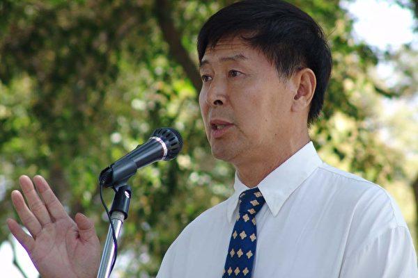 救援大陆被迫害人士遗孤协会代表李有甫发言。