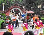 大唐民族舞团在赤崁楼演出(大纪元)
