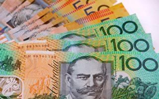 澳元週四大幅上漲但今天又有所回落。(大紀元)