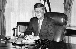 美国前总统约翰. 肯尼迪(John F. Kennedy)(AFP PHOTO)