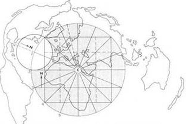 以开罗为中心模拟雷斯的地图(图片提供:Adventures Unlimited Press)