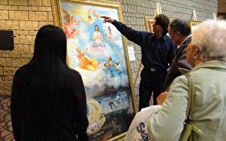 渥太華展出法輪功學員張崑崙親身經歷繪畫