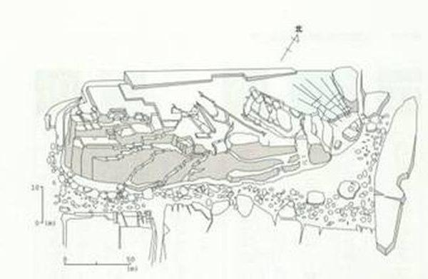 巨石构成的遗址的立体图(图片提供:木村政昭教授)