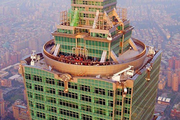 五月天在101大樓91樓演唱/滾石唱片提供
