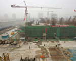 北京五颗松的一个建筑工地(FREDERIC J. BROWN/AFP/Getty Images)