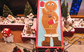 组图:世界最大姜饼 温馨饼屋添节日气氛