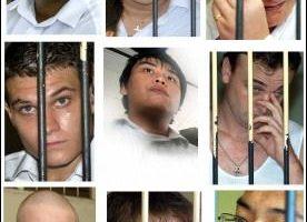 又有三名澳洲烟毒犯今天遭印尼法官判处无期徒刑。他们参与贩毒集团,从观光胜地峇里岛走私海洛因至澳洲。图片来源:法新社