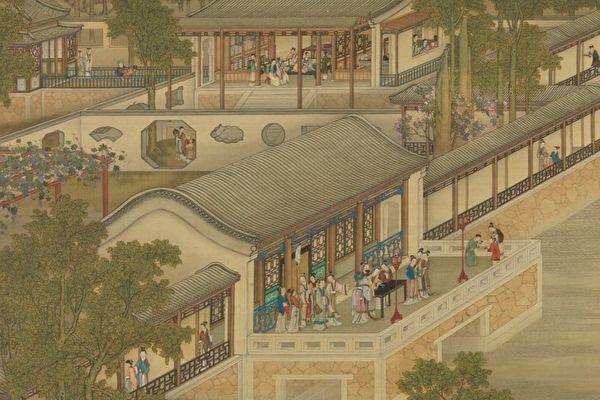 图为《清画院画十二月月令图七月》局部图。(公有领域)