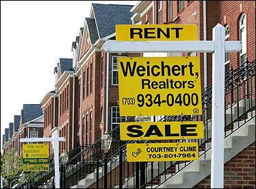 全美房地产经纪商协会透露,美国二月份成屋销售数据意外暴增百分之五点二,创两年来最高增长率。图片来源:法新社 2006-03-24
