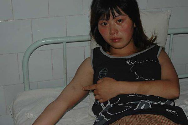 万念俱灰的王丽萍(图片受害人提供)