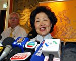 陳方安生:「我有幸躋身政府高層,益發感到有責任言行一致。」(大紀元記者吳璉宥攝)