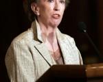 英國外交大臣貝嘉晴相信,全民普選是建立一個穩定社會的最佳方法。圖為7月10日,她上任後首度訪問華府。(AFP)