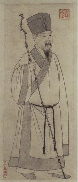 元 赵孟頫绘《苏轼画像》。(公有领域)
