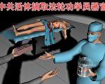 时事漫画:活摘器官,谋取暴利(大纪元)
