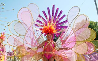 加勒比节游行服饰展示(大纪元)