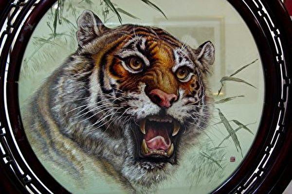 老虎。(雅惠翻攝/大紀元)