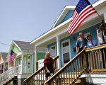 卡特里娜颶風一週年之際,美國總統布什來到南部城市新奧爾良。(AFP)