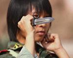 2006年8月8日,中国青海西宁女警察正在集训。(China Photos/Getty Images)