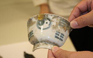 澎湖馬公港挖掘出具八卦圖像古物。(文資中心提供)