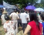 9月20日早上9时,汕尾上千名村民到东洲佛爷公集合,希望向当局讨回他们的农田和安排他们以后的生计。(大纪元资料图片)
