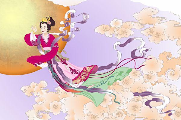 中國嫦娥奔月的故事及月亮上吳剛伐桂、玉兔搗藥的傳說家喻戶曉。(大紀元)