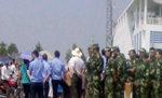 汕尾上千名村民到佛爷公集会 武警在火电厂门口戒备(大纪元图片)