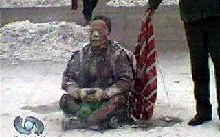 """图: 2001年1月23日下午发生在北京天安门广场的""""天安门自焚事件""""震惊中外。通过中央电视台播放的官方制作的录像,国际教育发展署分析后指出是由中共一手栽赃法轮功的。录像内容是侮辱和煽动仇恨法轮功的事实。(大纪元质料室)"""