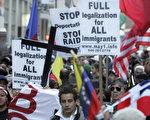去年十月,纽约支持移民法改革的游行 (Stephen Chernin/Getty Images 2006-10-21)