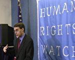 圖為《人權觀察》執行主任肯尼斯‧諾斯(Kenneth Roth)。 (NICHOLAS KAMM/AFP/Getty Images)