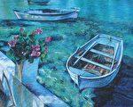 林政梤油彩画作。(莎伦画院提供)